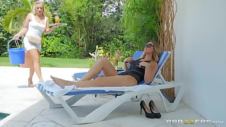 summer hot day can be even better with lesbians Addison Lee and Bailey Brooke