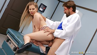 Sweet blonde gets laid with say no to hot physician
